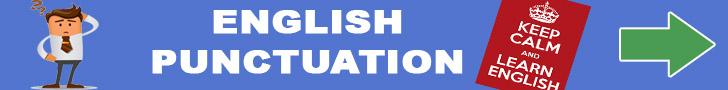 ENGLISH PUNCTUATION (Infographic)